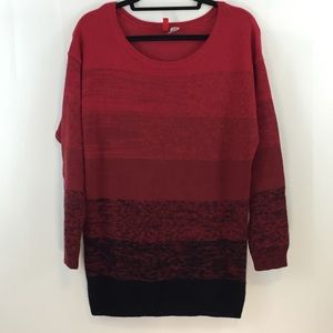 Divided by H&M Red and Black Ombré Sweater